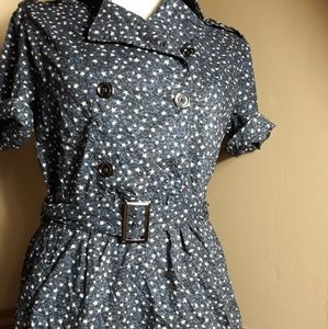 Burberry Brit blue and white star print dress